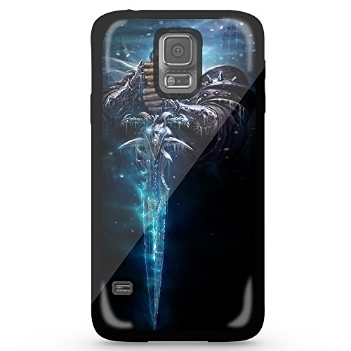 World of Warcraft Wow Anime Game Lich King Frostmourne Arthas for Iphone and Samsung Galaxy (Samsung Galaxy s5 black)