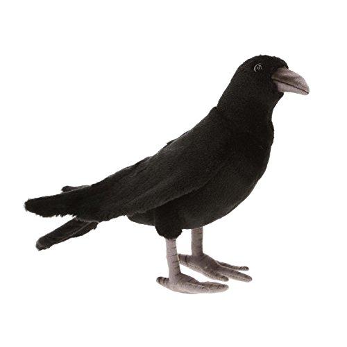 "Hansa Black Crow 12"" Plush"