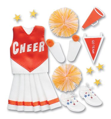 Jolee's Boutique Pep Rally Themed Ornate Stickers (Cheerleading) Orange