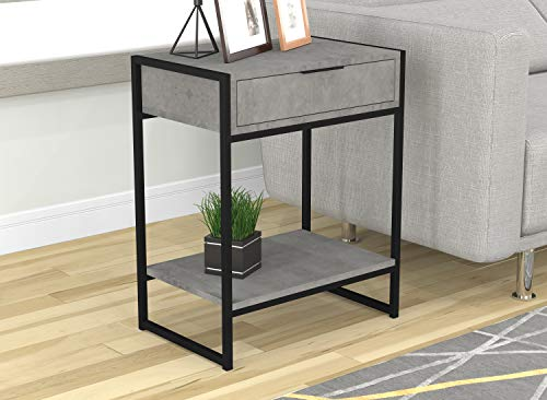 Safdie & Co. 81045.Z.73 Safdie Furniture Top Line End Table, Grey Cement (Cement Table End Top)