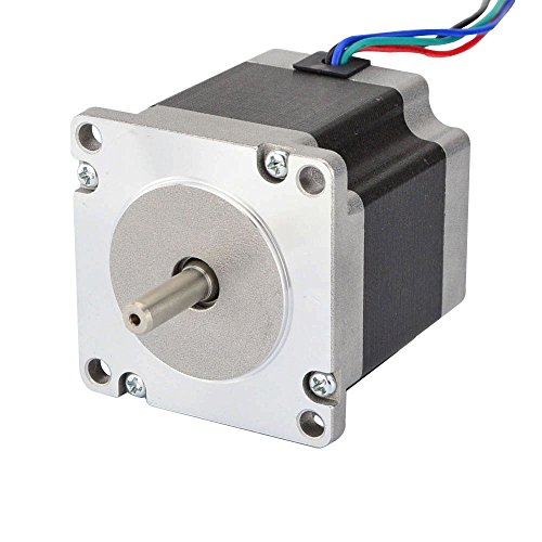 STEPPERONLINE 0.9 deg Nema 23 Step Motor Bipolar 1.26Nm(178.4oz.in) 2.8A 4-lead for CNC Mill Router Robot by STEPPERONLINE
