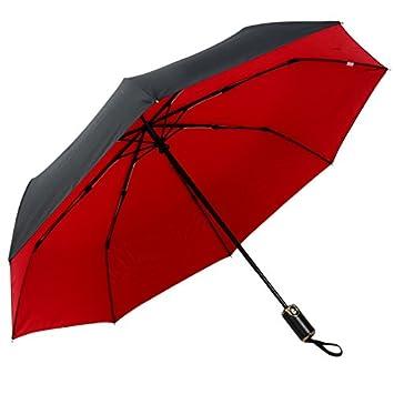 RF Paraguas doble plegado automático de 3 PARAGUAS paraguas plegable automático soleado día lluvioso dos paraguas