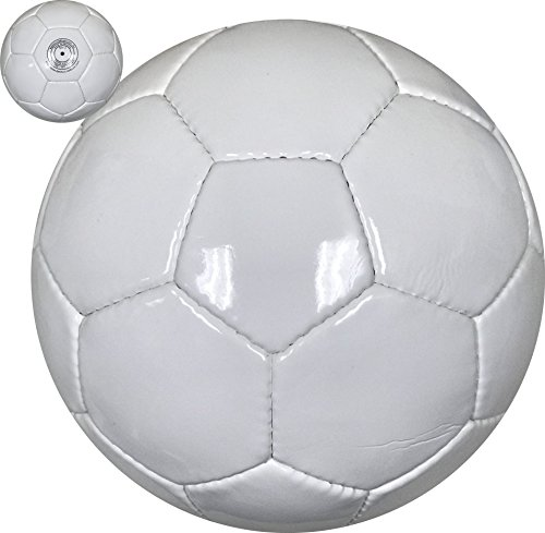 All White Soccer Ball for Autographs Painting or for Playing Soccer
