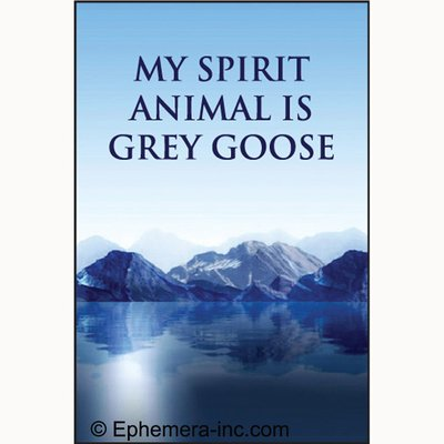Goose Magnet - My spirit animal is Grey Goose - RECTANGLE MAGNET