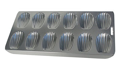 Simply Silver - Cake Mold - Fox Run 12 Cup Heavy Duty Nonstick Madeleine Shell Shape Cake Mold Cookie Pan by Simply Silver