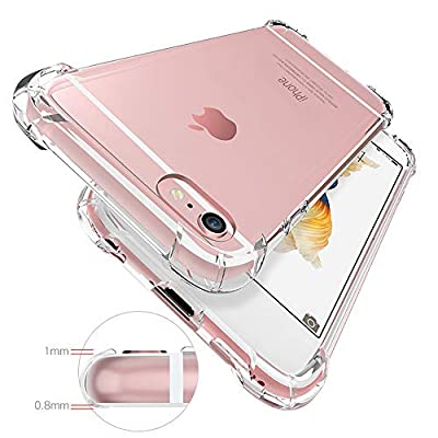 Transparent Clear case for iphone6/6s 4.7inch 2in1 Pack with 2.5D Tempered Glass