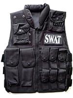 特殊部隊SWAT レプリカ タクティカルベスト ブラック