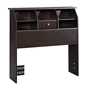 Sauder Shoal Creek Bookcase Headboard, Twin, Jamocha Wood finish