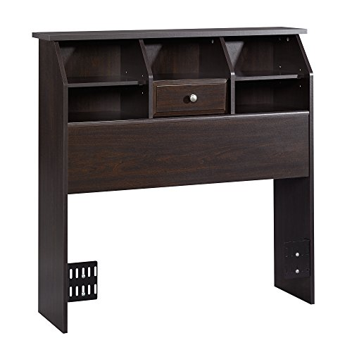- Sauder 412091 Shoal Creek Bookcase Headboard, Twin, Jamocha Wood finish