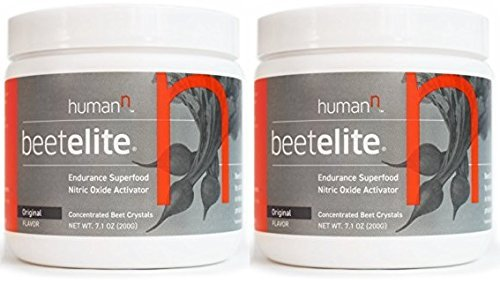 HumanN Beetelite Canister Endurance Superfood Nitric Oxide Activator, Original, 200 Gram (2 Bottles)