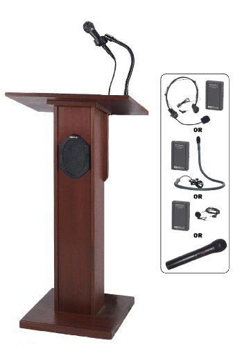 Wireless Elite Lectern In Cherry