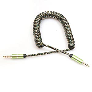 Aobiny 3.5mm Auxiliary Cable Audio Cable Male To Male Flat Aux Cable 2m (Green)
