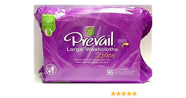 Amazon.com: Prevail large adult washcloths refill 96 count (2 Pack): Health & Personal Care