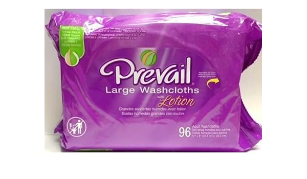 Amazon.com: Prevail large adult washcloths refill 96 count (4 Pack): Health & Personal Care