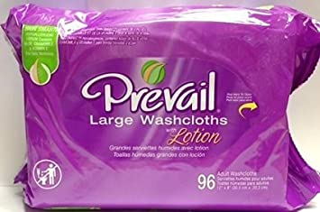 Prevail large adult washcloths refill 96 count (2 Pack)
