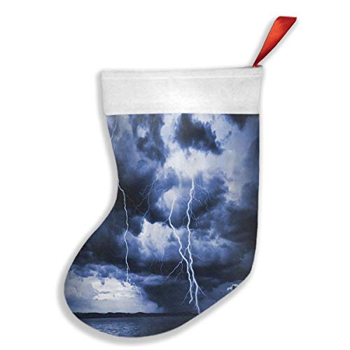 FYUD The Magnificent Rain Clouds Christmas Stockings Xmas Party Mantel Decorations Ornaments