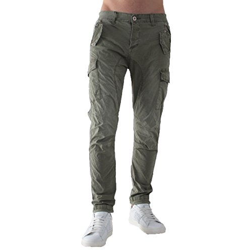 Gl2363j Lupo Gianni Pantalone Verde Militare qrEqwYd4Ac