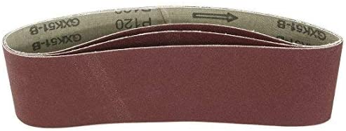 - Aluminum Oxide Sanding Belt, Polishing Joint, 120 Mm, 3 In. X 21 In, 3 Pieces