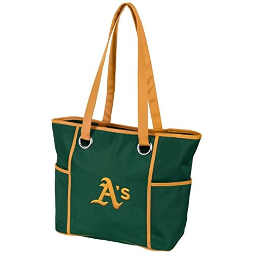 (Charm14 MLB Oakland Athletics Deluxe Tote Bag with Embroidered Logo)