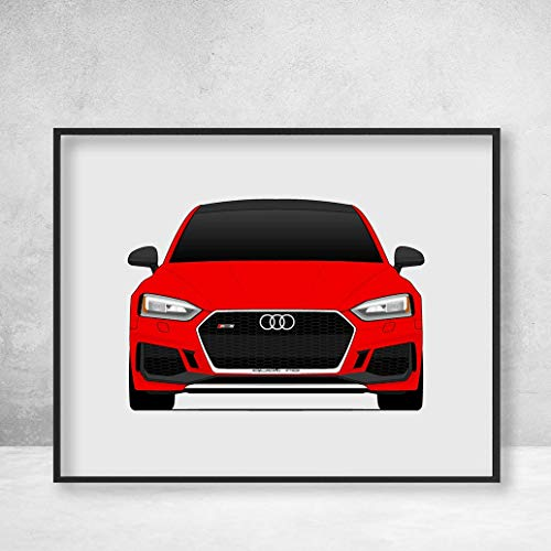 (Audi S5 / RS5 B9 Second Generation (2016 - Present) Poster Print Wall Art Decor Handmade (Audi A5 Coupe))