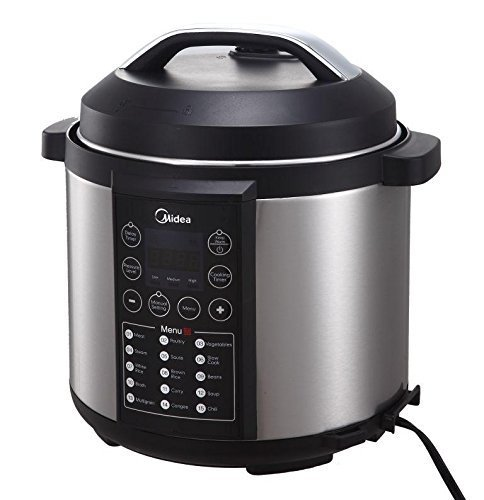 MIDEA MY-CS6004W 15-in-1 6L Stainless Steel Pot Electric Pressure Cooker with Steamer Rack