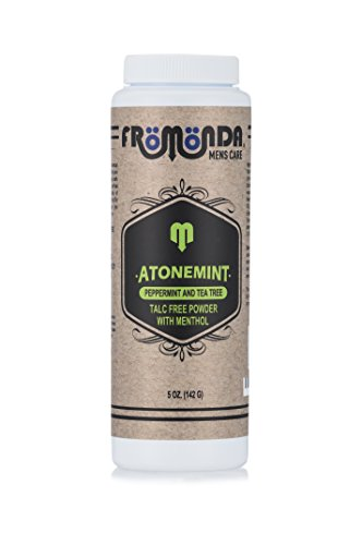 Talc Cooling (Fromonda AtoneMint Finest Talc-Free Body Powder with Menthol. 100% Natural. Peppermint & Tea Tree Scent, 5 oz)