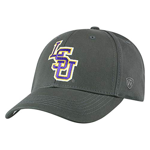 Top of the World LSU Tigers Men's Fitted Hat Icon, Charcoal, One Fit ()