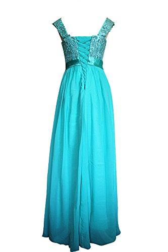 Mousseline Turquoise Pour Soie Robe De Femme En Fineapparel x1BwtO8x