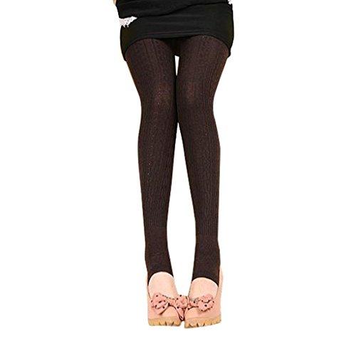 Tongshi Invierno caliente chica mujeres cómodo algodón medias Pantalones Leggings estribo pantalones (negro, Tamaño libre) marino
