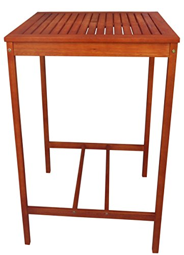 "Zen Garden Eucalyptus Bar Table, Size - 27.5"" x 27.5"" x 4..."