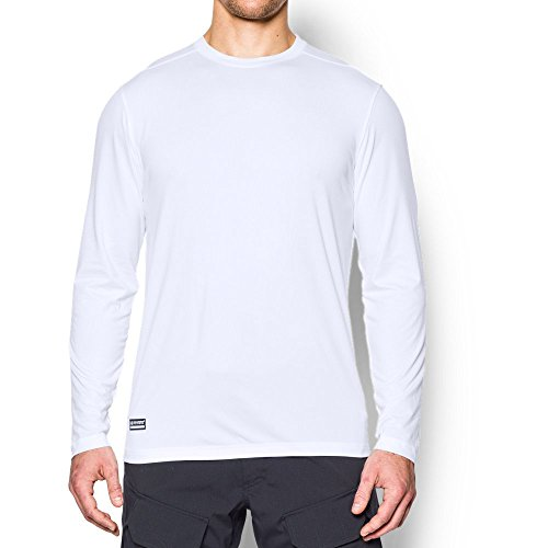 - Under Armour Men's Tactical  Tech Long Sleeve T-Shirt, White /White, Large