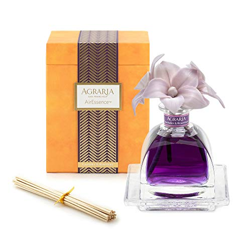 AGRARIA AirEssence Luxury Diffuser Lavender & Rosemary Scent, Includes 3 Sola Flowers and 20 Reeds 7.4 Ounces