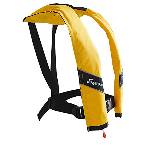 (Eyson Slim Inflatable PFD Life Jacket Life Vest Adult Automatic (Yellow))