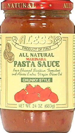 Alessi All Natural Marinara Pasta Sauce Chunky Style, 24 Ounce (Pack of 6) by Alessi