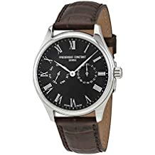 Frederique Constant Black Dial Leather Strap Men's Watch FC-259BR5B6-DBR
