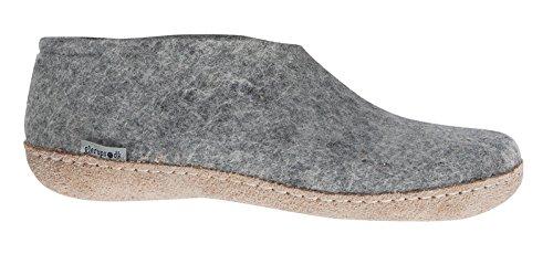 GLERUPS -- Unisex Indoor Casual Wool Felt Shoe, Grey EURO Size 40