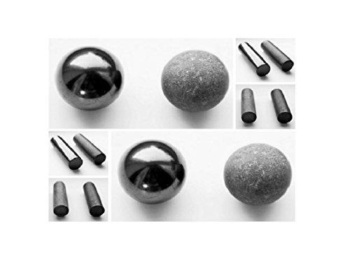 Karelian Heritage Genuine Shungite Harmonizers Set, Natural Black Stone  Meditation Rods S115