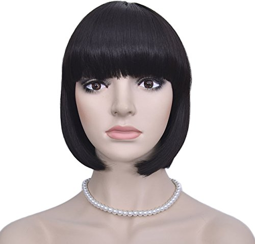 Difor (Black Bob Wig With Bangs)