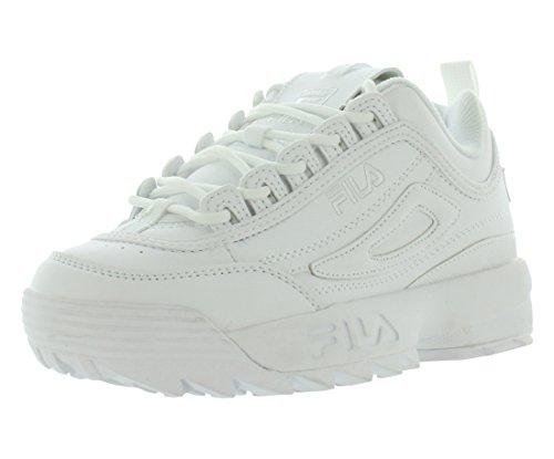 Fila Disruptor II Sneaker, Triple White, 3.5 M US Big Kid from Fila