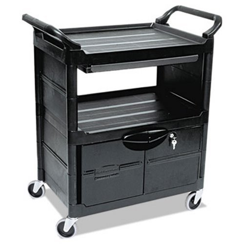 Rubbermaid Computer Carts - Rubbermaid Comm. Lockable Storage Utility Cart