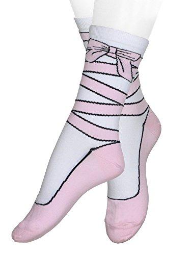 The Ballet Slipper Sock, Hosiery for Women, One Size, Pink from K. Bell Socks