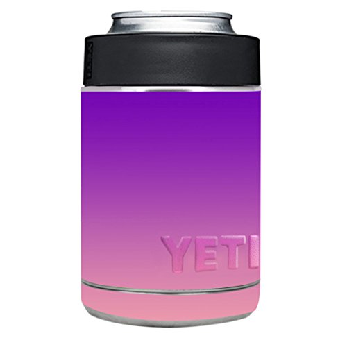 Vinyl Stickers for Yeti Colster Cup - Decals for RTIC Can - Waterproof Sticker for Cups Personalized Non-slip for DIY Your YETI Rambler Cooler Tumbler - Purple Pink Gradient