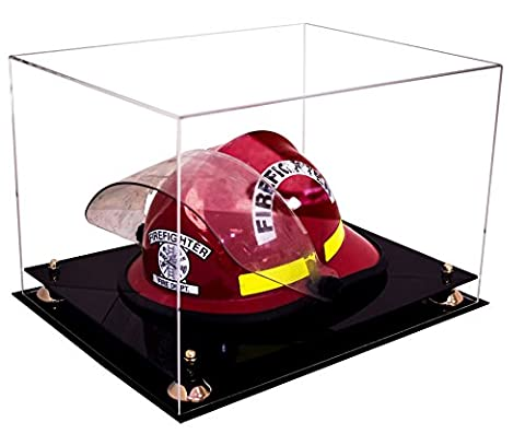 Deluxe Clear Acrylic Fireman?s Helmet Large Display Case with UV Protection (A014) - Large Display Case