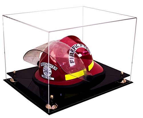 Deluxe Clear Acrylic Fireman?s Helmet Large Display Case with UV Protection (A014)