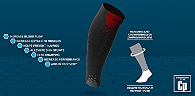 Graduated Calf Compression Sleeves for Men & Women by Thirty48 | 15-22 OR 20-30 mmHg | Maximize Faster Recovery by Increasing Oxygen to Muscles | Great for Running, Walking, Crossfit, Cycling, Travel