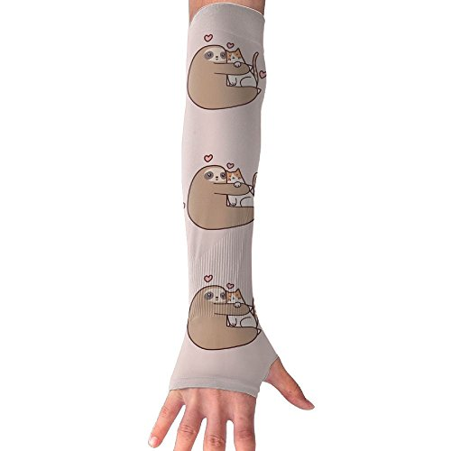 Men & Women Sloth Love Cat UV Sun Protection Cooling Arm Sleeves,arm Warmer,long Sleeve Glove,Skin Protector Perfect For Cycling, Driving, Outdoor Sports, Golf, Basketball, Baseball