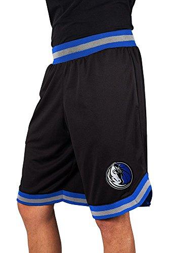 (Ultra Game NBA Dallas Mavericks Men's Mesh Basketball Shorts Woven Active Basic, Small, Black)