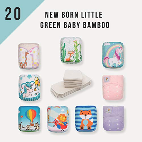 KaWaii Baby Newborn Little Green Baby Bamboo Cloth Diapers R
