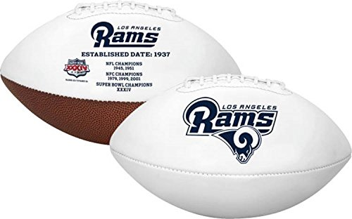 Embroidered Autograph - Los Angeles Rams Embroidered Logo Signature Series Full Size Autograph Football