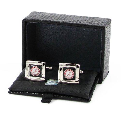 Alabama Crimson Tide Team Logo NCAA Square Cufflinks Gift Box Set